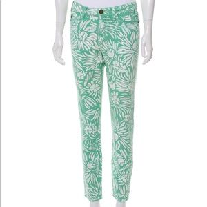 Rare DVF Mid-rise printed jeans mint